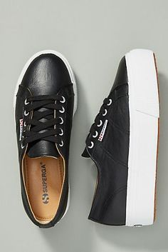618bd4732cdd Superga Leather Platform Sneakers