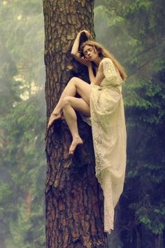 She sleeps in trees..