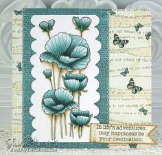Wonderful directions from ellenhutson.typepad.com using BG70, BG72, BG75, BG78 on petals and YG61 on stems