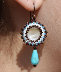 Southwest Inspired Mother of Pearl and Turquoise by SowinOats, $39.00