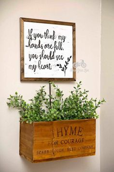 Inspirational Quote Sign, If You Think my Hands are Full, Handpainted, 12x12, Cottage Decor, Farmhouse Sign, Vintage Inspired