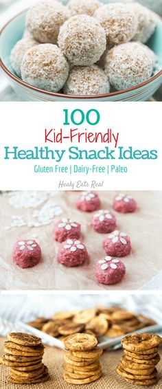 Kid Friendly Healthy Snack Ideas (Gluten Free, Dairy-free & Paleo)--- these snacks are great for on the go and are good for kids and adults!