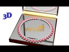 Simple Beaded Necklace. 3D Tutorial - YouTube