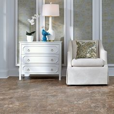 As captivating as the windswept beaches and clear waters that embrace the West Indies coastline, Seychelles resilient is an authentic marble look that's softly colored and subtly textured.