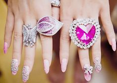 Big and pink rings
