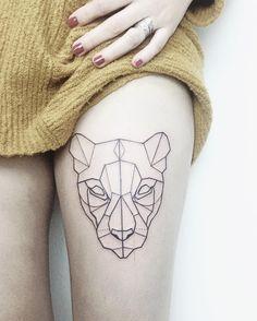 ·Geometric Lioness· by Pati San Martín