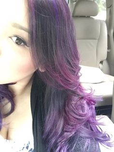 Purple Ombre Balayage http://stephanie-nguyen.blogspot.com/2015/03/purple-ombre-hair-color.html
