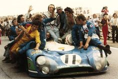 Vitória 24 Horas de Le  Mans 1973. Equipa Matra Simca Shell N.º 11 Gérard Larrousse e Henri Pescarolo