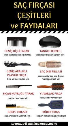 Which hair brush to choose hair brush according to hair type .- We have explained which hair brush has what benefits and what are the usage areas for hair brush selection according to hair type. Beauty Care, Beauty Skin, Hair Beauty, Beauty Makeup, Types Of Hair Brushes, Beauty Secrets, Beauty Hacks, Curly Hair Styles, Natural Hair Styles
