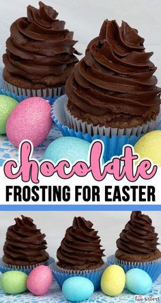 This is the Best Chocolate Buttercream Frosting we have ever tasted and it is so easy to make. You'll never use store bought Chocolate Frosting again. Best Chocolate Icing, Best Chocolate Buttercream Frosting, Easter Recipes, Easter Desserts, Just Desserts, Easter Treats, Easter Food, Easter Table, Easter Party