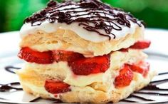 Δροσερό γλυκό: Ναπολεόν φράουλας με μασκαρπόνε