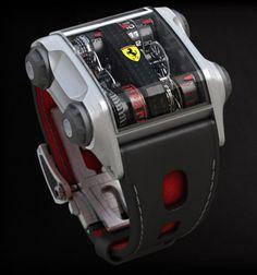 Cabestan Scuderia Ferrari One Custom Watch Amazing Watches, Beautiful Watches, Cool Watches, Unique Watches, Popular Watches, Richard Mille, Tag Heuer, Patek Philippe, Devon