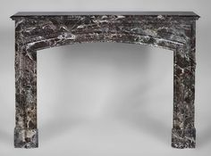Antique Louis XIV fireplace in Red Levanto marble . Louis Xiv, Fireplace Inserts, Architectural Antiques, Marble Floor, Making Out, 19th Century, Oversized Mirror, Colours, Flooring