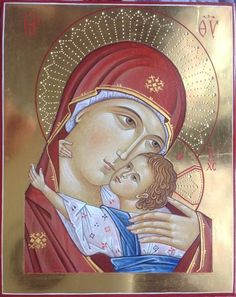 Icone per mano di Paola Morandi - Giuliano Melzi - Picasa Web Albums Religious Icons, Religious Art, Mother Mary, Mother And Child, Greek Icons, Icon 5, Russian Icons, Religious Paintings, Madonna And Child