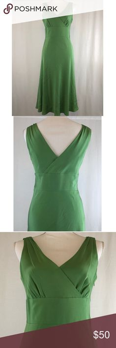 "🆕 J Crew Emerald Green Silk Party/Wedding Dress BEAUTIFUL Emerald Green Wedding/Cocktail/Party Dress Worn only once to a wedding J Crew Size 6 Crossover V Neck at bust and in back Side Zip Bra Clasps Slight Fare out as dress skims over hips I'm 5'5"" and it hits me just past my knees Please see the picture of the small mark—it is on the left bust area Please let me know if you would like to bundle, I offer a 15% discount on bundles of 2 or more! No trades. J. Crew Dresses"