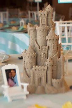 Sand castle centerpiece