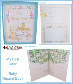 MY First 1st Year Baby Record Book Baby Keepsake Blue. For mahwish. i like the illustrations in this one.