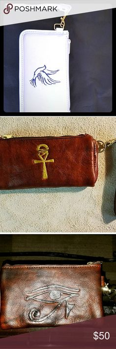 """Custom leather purses A couple of different designs for the clutch purses. Get  a purse that only you can have. It time to be one of one's, to be original and unique. Why not start by getting a custom bag from The """"KingofCustoms"""" and make a statement everywhere you go! kingofcustoms Bags Clutches & Wristlets"""