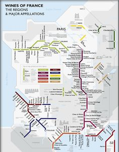 Wines of France / Metro Map