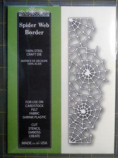 PoppyStamps Spider Web Border craft die memory Box  #MemoryBoxPoppystamps Brand New Halloween 2014
