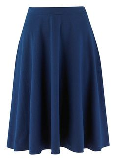 People Tree | Lizzy Blue Flared Jersey Skirt