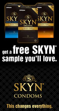 Free Sample of Lifestyle SKYN Condoms    Get them here: http://free4him.com/samples/skyn-condoms/