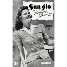 1940s Vintage Knitting Patterns Sweaters  by BessieAndMaive, $9.50