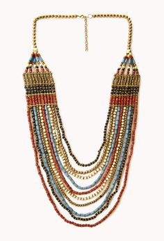 Worldly Layered Beaded Necklace | FOREVER21 Prepping our festival accessories! #Beads #Accessories #ForeverFest