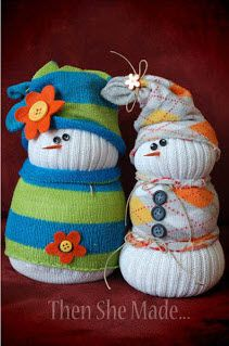 Sock Snowmen!     http://www.abc4.com/content/about_4/gtu/featured_on/story/Build-a-Snowman-Indoors/fKAfe85480qR5s7UmNXJdQ.cspx
