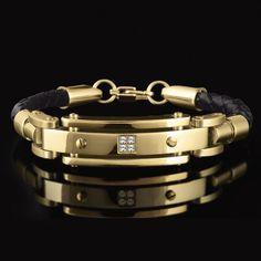 Gold Bracelets for Men | Click image to enlarge or roll over for close up
