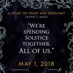 A Court of Frost and Starlight by Sarah J. A Court Of Wings And Ruin, A Court Of Mist And Fury, Good Books, Books To Read, Saga, Sara J Maas, Empire Of Storms, Sarah J Maas Books, Throne Of Glass Series