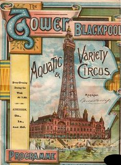 Early 1900s The Tower Blackpool vintage poster