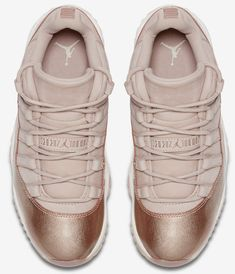 e53c27cccb4a The Air Jordan 11 Low Rose Gold has released today. Who s copping