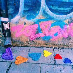 crochet heart art