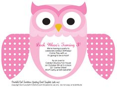 owl birthday party invitations abby pinterest fiesta moldes