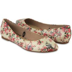 Sequined Floral Flats
