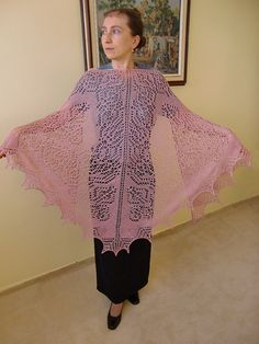 Irina Shawl Triangular shl115 by AlpachHandMade on Etsy, $140.00