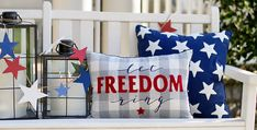 4th of July Decorations | Patriotic Decor | Kirklands Pennant Banners, Burlap Bows, Bunting Banner, Fourth Of July Decor, 4th Of July Decorations, American Flag Quilt, Mason Jar Candle Holders, Let Freedom Ring