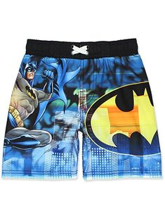 45df31853f Take a vacation from saving Gotham and toss on these Batman Boys Swim Trunks  from DC