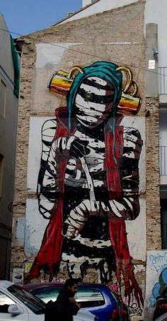 "by Deih - ""Cosmos revealing himself"" - for Incubarte Art Festival - Valencia, Spain - 2013"