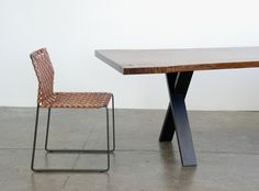 Dining Table - X Base // Mark Albrecht Studio