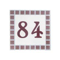 Square Designs » Exotic Ceramic Tiles Designs Ceramic House Numbers, Plaque Design, Family Name Signs, Ceramic Houses, Portuguese Tiles, Tile Design, Wedding Gifts, Exotic, Symbols