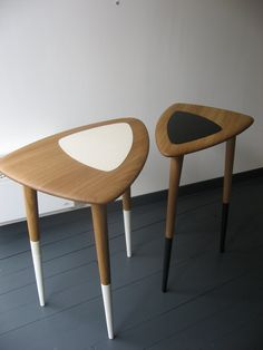 muku side tables... would love these, maybe with walnut and a greyish brown, or even red oak?