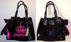 I'm totally obsessed with the black & pink princess Juicy Couture purse Jermaine got me. Looooovvve it. #gabiology