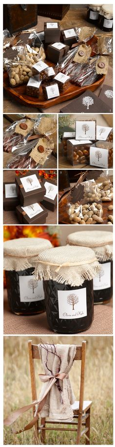 I love the burlap and twig on the chair. Fall Wedding Ideas