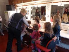 Children learning about our Make Up Department on a Family Tour.
