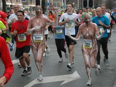 The marathon... a peacefull day for all people... in Rotterdam...