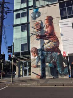 Great new artwork that just appeared on Enmore Rd, Newtown/Enmore... I think the same artist has another work on a cafe wall in Alice St. LOVE!