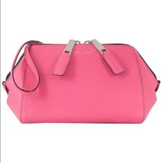 Marc Jacobs pink leather large Wristlet clutch bag MARC JACOBS  'Doctor Pouch' clutch in pink    - New with tags. Measurements: not applicable, depth: 11 centimetres, height: 15 centimetres, width: 26 centimetres Marc Jacobs Bags Clutches & Wristlets