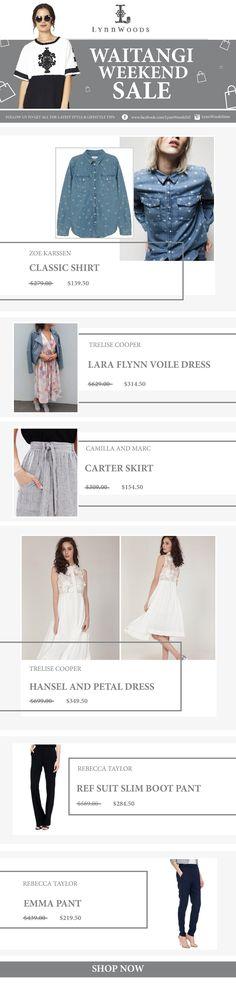 Visit Us:  http://www.lynnwoodsonlinestore.co.nz/  #fashion #style #EDM #FashionEDM #Design #GraphicDesign #Photography #Lifestyle #EDMDesign #Email #DesignEmail #FashionEmail